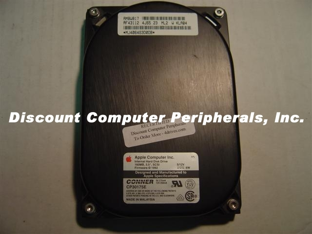 160MB 3.5IN LP SCSI 50 PIN CONNER CP30175E Free USA Ship Our Drives Work