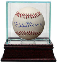 Eddie Murray signed Official Major League Baseball w/ Glass Case (Baltim... - $118.95