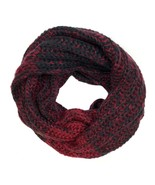 Timberland Women's Marled Black & Red Infinity Scarf A1E5E - $29.69