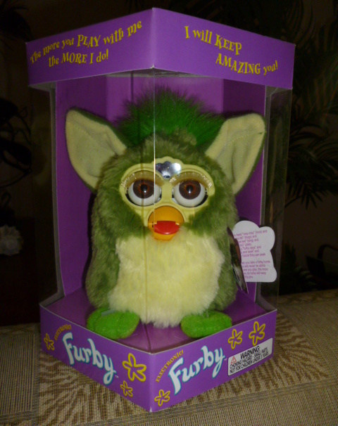 Original 1998 FURBY Frog Furby Never Removed From Box NEW IN BOX