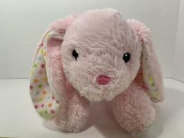 Dan Dee pink plush Easter bunny rabbit pastel polka dots floppy lop ears... - $14.84