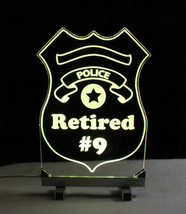 Personalized Police Badge LED Sign - Policeman image 2