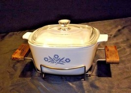 Vintage CorningWare 3 Piece Serving Dish, Stand and Lid AB 249-E - $94.07
