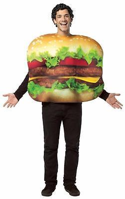 Cheeseburger Adult Costume Food Halloween Party Unique Cheap GC7084