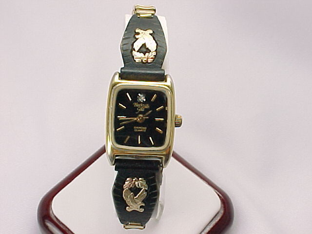 Primary image for BLACK HILLS GOLD Eagle and Leaf Diamond Quartz Wristwatch - FREE SHIPPING