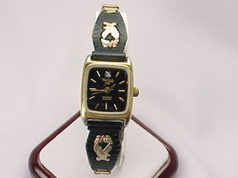BLACK HILLS GOLD Eagle and Leaf Diamond Quartz Wristwatch - FREE SHIPPING - £88.32 GBP
