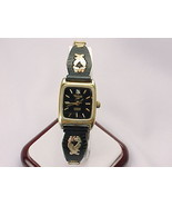 BLACK HILLS GOLD Eagle and Leaf Diamond Quartz Wristwatch - FREE SHIPPING - $110.00