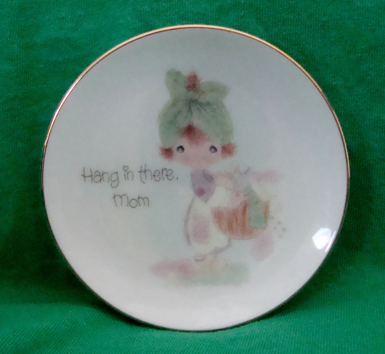 Precious Moments Hang in There Mom Decorative Plate