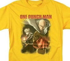 One Punch Man Japanese Anime TV series gold graphic t-shirt OPM106 image 2