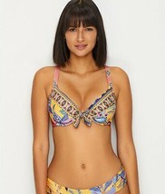 Becca MULTI Tapestry Bloom Convertible Push-Up Bikini Swim Top, US Medium - $37.03