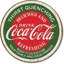 Coca Cola Coke Thirst Quenching Advertising Vintage Retro Style Metal Ti... - $14.95