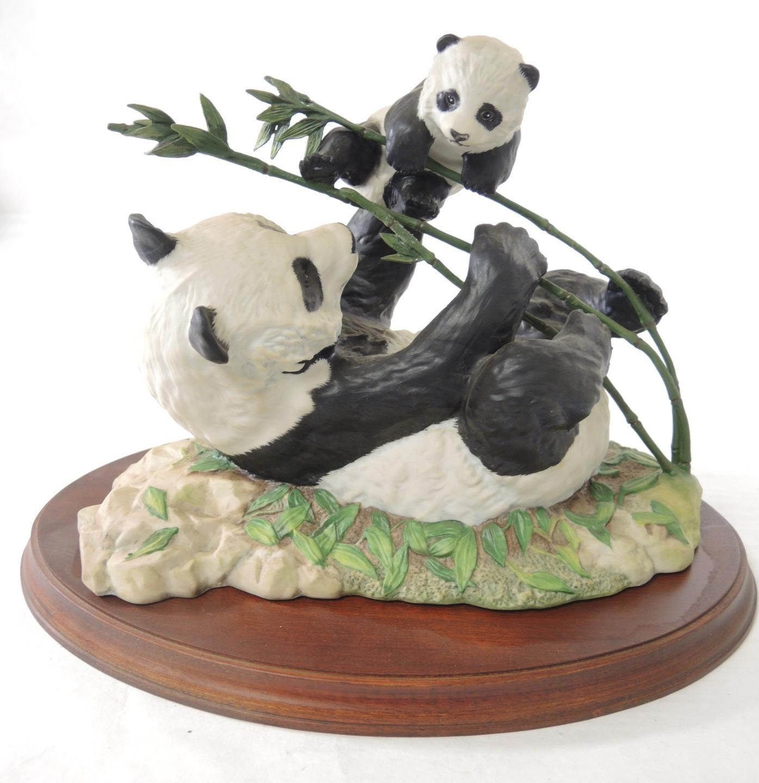 1988 Franklin Mint Panda Bears Pride and Joy Designed by D J Shinn - $9.98