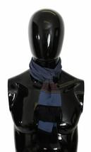 Dolce & Gabbana Mens Blue Baroque Fringed Wrap Shawl Silk Scarf 133cm x ... - $127.71