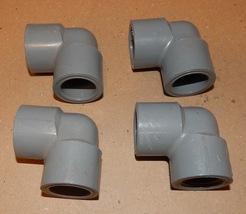 "3/4"" NPT x 3/4"" Slip Gray Spears 90 Degree PVC USA SCH 80 F439 4ea CPVC ... - $9.49"