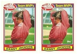 (2) 1989 Topps Hills Team MVP's Baseball #18 Danny Jackson Card Lot Reds - $2.25