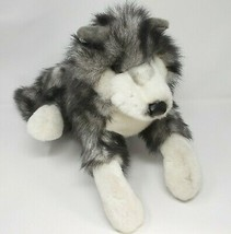 FOLKMANIS TIMBER WOLF GREY WHITE FULL BODY HAND PUPPET STUFFED ANIMAL PL... - $36.12