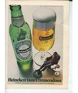 Heineken Tastes Tremendous Imported In Bottles On Draft And Dark Beer 19... - $1.50