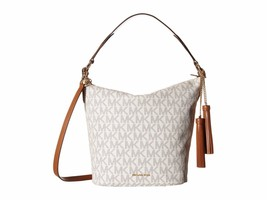 New Michael Kors Elana MK Signature Medium Convertible Shoulder Bag Vanilla - $264.59