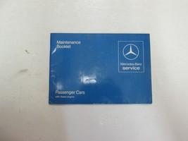 1982 Mercedes Benz Passenger Cars Diesel Engine Maintenance Booklet Manual WEAR - $29.65