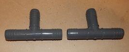 """PVC Tee's Insert x Dbl Helix 3/4"""" Spears Grey USA D2609 2ea TT4Z2 137S - $7.49"""