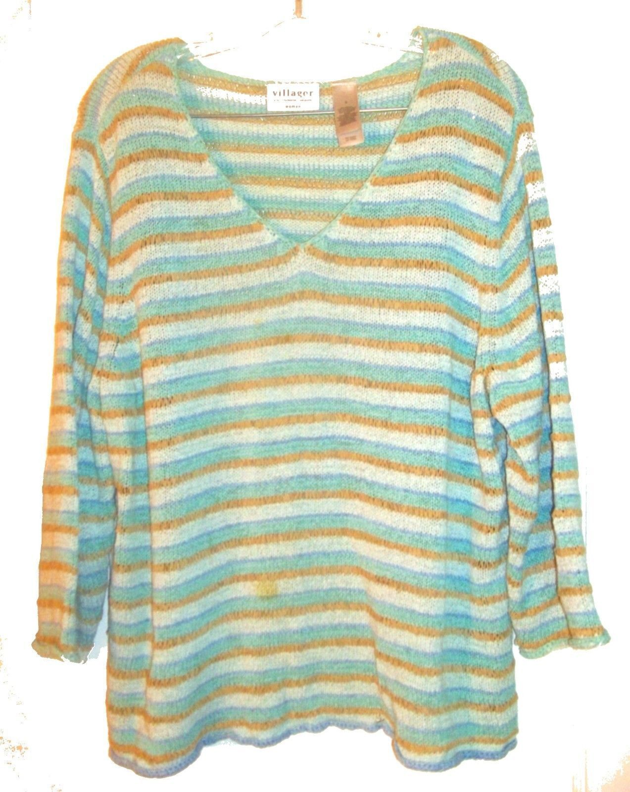 Size XL - Plus Size 3X ~ Villager Long Sleeve Sweaters, some with Beaded Accents image 8