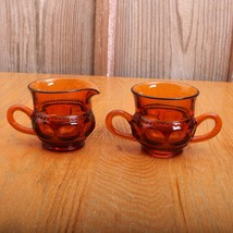 Indiana Glass Company Amber Kings Crown Thumbpr... - $28.04