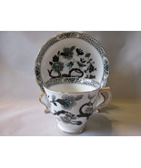 Vintage Tuscan English Bone China Cup & Saucer - Unusual Pattern , 1940s... - $374,45 MXN