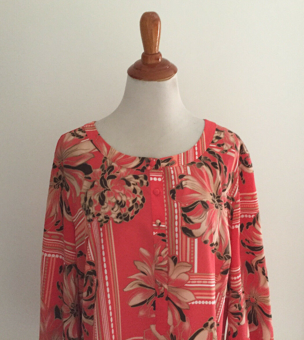 JM Collection Floral Print Blouse Size 16