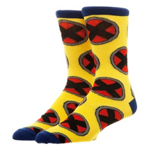 X-Men Repeat Logo Crew Socks Yellow - $13.98
