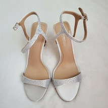 Imagine by Vince Camuto Womens RESHI3 Pure White Deluxe Satin/Nappa 9M - $39.59
