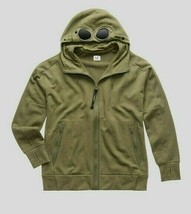 C.P.Company Men's Diagonal Fleece Goggle Hoody NEW AUTHENTIC Olive 08CMS... - $159.99