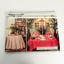 Vogue 1845 Home Decor Pattern Fancy Table Cloths Uncut  ❤️ - $12.99