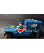 Tin Toy US Military Jeep Us Air Force Mini Car Made in Japan Antique - $428.23