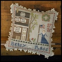 Betsy Ross #1 Early Americans series cross stitch chart Little House Nee... - $5.40