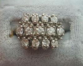 14K Gold Ring with Thirteen Round Genuine Natural Diamonds (#J819) - $930.75