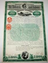 William Seward Webb - Mohawk & Malone Railway Co Bond - $88.58