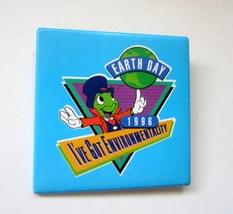 1996 Disney Jiminy Cricket Earth Day I've Got Environmentality Pinback Button - $7.99