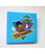 1996 Disney Jiminy Cricket Earth Day I've Got Environmentality Pinback B... - $7.99
