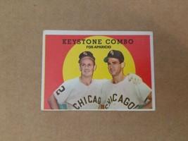 1959 Topps Keystone Combo #408 Luis Aparicio Nellie Fox White Sox Baseba... - $9.74