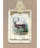 Hang Tags Deer Buck Nature Hunting Tags or Magnet Handcrafted tkprimitiv... - $19.60