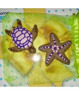 Homemade real coco and Goats milk sea turtle, starfish and, seashell soa... - £3.82 GBP