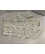 "Vintage Ecru Lace Floral Rose Lace Strip Trim Band Strip 3 1/2"" Wide x 9... - $29.70"