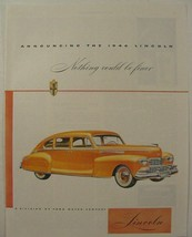 1946 LINCOLN Nothing Could be Finer Print Ad - $9.99