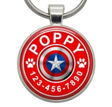 Dog Tag - Captain America (Marvel) - Dog ID Tag, Cat ID Tag, Pet ID Tag,... - $19.99
