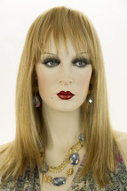 Piano Stripe Straw. + Light Pale Blonde Red Long Premium Remy Human Hair  S Wigs - $454.40