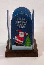 "Vintage Hallmark Keepsake Christmas Candle Lit ""Let The Christmas Season... - $4.94"