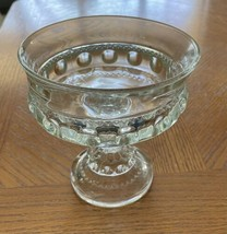 Vintage 1910-20s Clear Pressed Glass Compote or Footed Bowl - $11.88