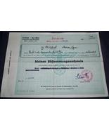 ORIGINAL WW2 NAZI GERMAN ARYAN ANCESTRY CERTIFICATE WITH CHART ON BACK - $25.00