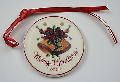 Primary image for Longaberger Pottery Merry Christmas Tie-On Collectible Accessory Pottery Decor