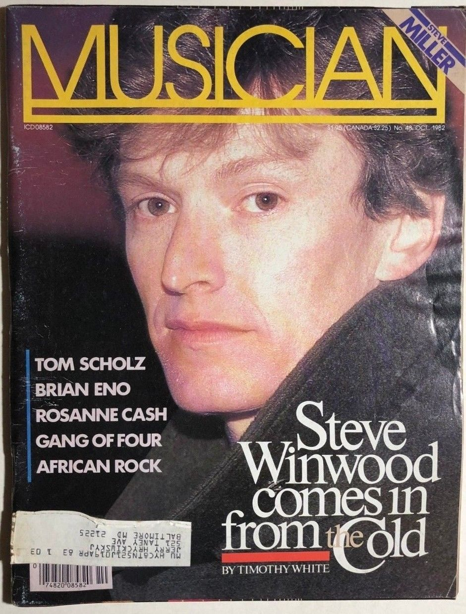 Primary image for MUSICIAN Magazine #48 October 1982 Steve Winwood